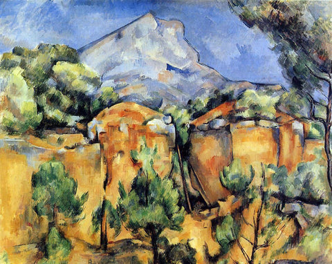 Paul Cezanne Mont Sainte-Victoire Seen from the Bibemus Quarry - Hand Painted Oil Painting