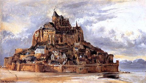 Theodore Rousseau Mont-Saint-Michel - Hand Painted Oil Painting