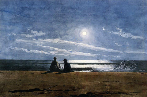 Winslow Homer Moonlight - Hand Painted Oil Painting