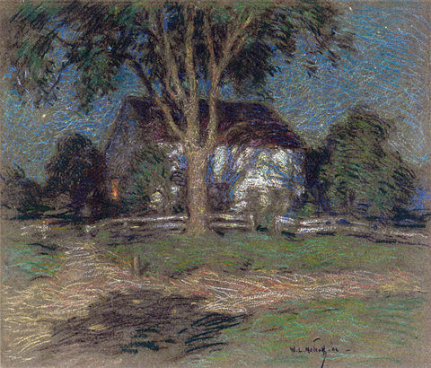 Willard Leroy Metcalf Moonlight - Hand Painted Oil Painting