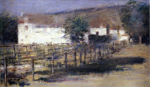 Theodore Robinson Moonlight, Giverny - Hand Painted Oil Painting