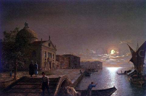 Henry Pether Moonlight In Venice - Hand Painted Oil Painting