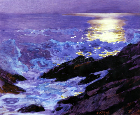 Edward Potthast Moonlight on the Coast - Hand Painted Oil Painting