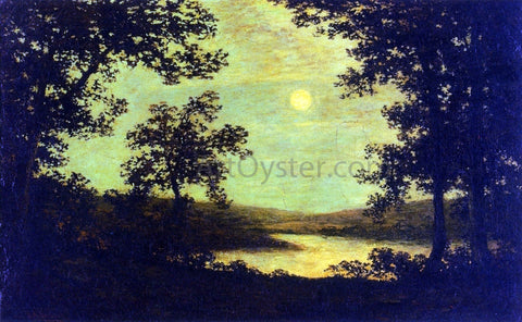 Ralph Albert Blakelock Moonlight on the Columbia River - Hand Painted Oil Painting