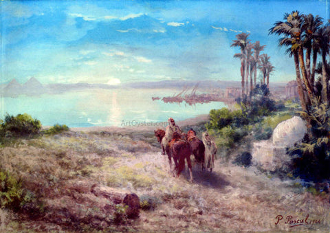 Paul Pascal Moonlight on the Nile - Hand Painted Oil Painting