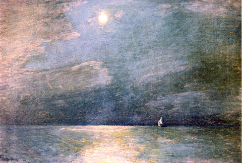 Frederick Childe Hassam Moonlight on the Sound - Hand Painted Oil Painting
