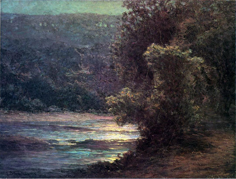 John Ottis Adams Moonlight on the Whitewater - Hand Painted Oil Painting