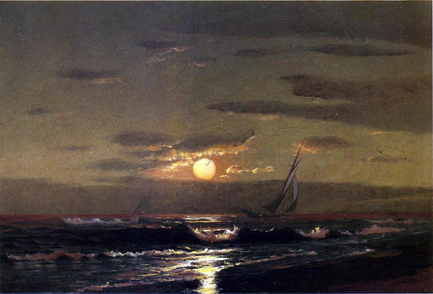 Warren W Sheppard Moonlight Sailing - Hand Painted Oil Painting