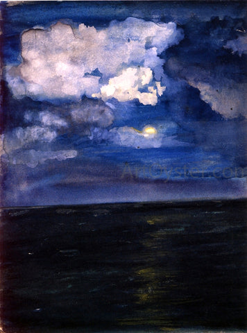 John La Farge Moonlit Seascape - Hand Painted Oil Painting