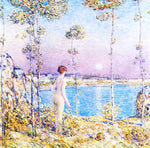 Frederick Childe Hassam Moonrise at Sunset - Hand Painted Oil Painting