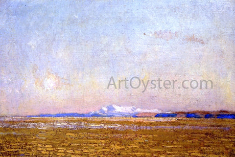 Frederick Childe Hassam Moonrise at Sunset, Harney Desert - Hand Painted Oil Painting