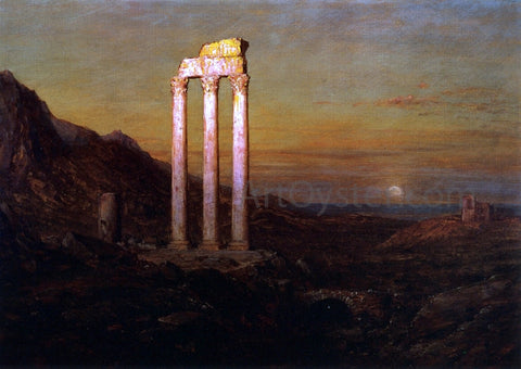 Frederic Edwin Church Moonrise - Hand Painted Oil Painting