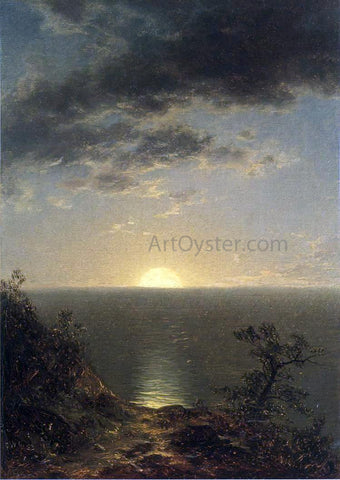 John W Casilear Moonrise on the Coast - Hand Painted Oil Painting
