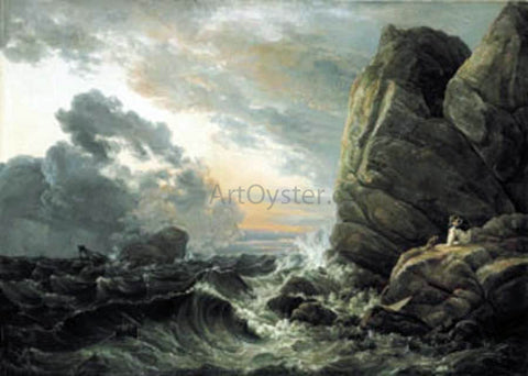Johan Christian Claussen Dahl Morning after a Stormy Night - Hand Painted Oil Painting