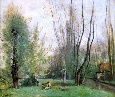 Jean-Baptiste-Camille Corot Morning at Beauvais - Hand Painted Oil Painting