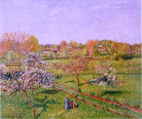 Camille Pissarro Morning, Flowering Apple Trees, Eragny - Hand Painted Oil Painting