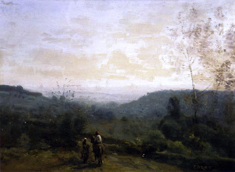 Jean-Baptiste-Camille Corot Morning, Fog Effect - Hand Painted Oil Painting