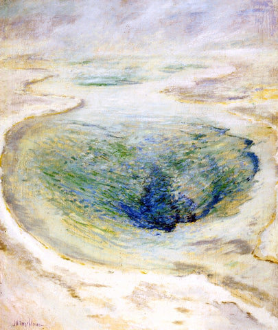 John Twachtman Morning Glory Pool, Yellowstone - Hand Painted Oil Painting