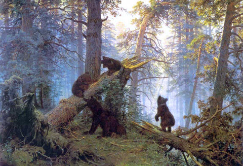 Ivan Ivanovich Shishkin Morning in Piny Wood - Hand Painted Oil Painting