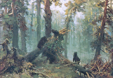 Ivan Ivanovich Shishkin Morning in Piny Wood (study) - Hand Painted Oil Painting