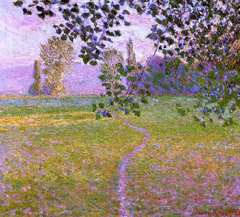 Claude Oscar Monet Morning Landscape, Giverny (also known as Landscape in the Morning) - Hand Painted Oil Painting