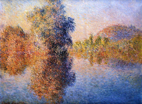 Claude Oscar Monet Morning on the Seine - Hand Painted Oil Painting