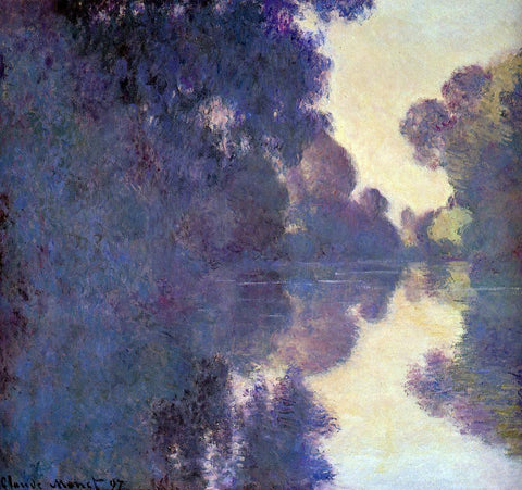 Claude Oscar Monet Morning on the Seine, Clear Weather - Hand Painted Oil Painting