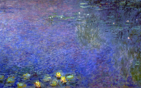 Claude Oscar Monet Morning (right-center detail) - Hand Painted Oil Painting