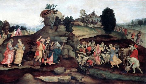 Filippino Lippi Moses Brings Forth Water out of the Rock - Hand Painted Oil Painting