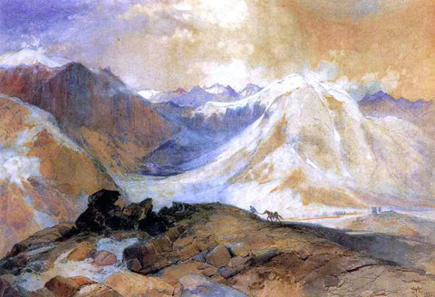 Thomas Moran Mosquito Trail, Rocky Mountains of Colorado - Hand Painted Oil Painting
