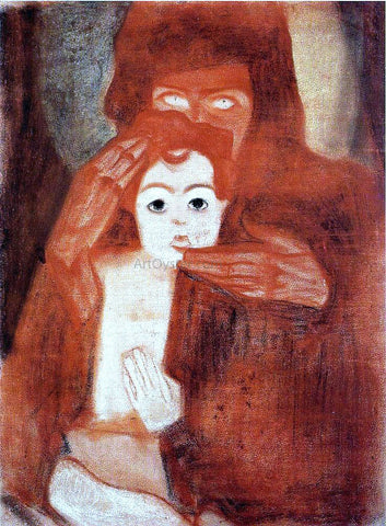 Egon Schiele Mother and Child (also known as Madonna) - Hand Painted Oil Painting