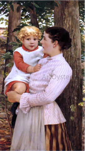 James Carroll Beckwith Mother and Child - Hand Painted Oil Painting