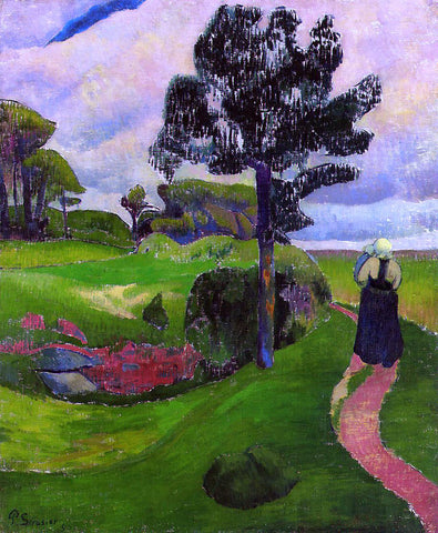 Paul Serusier Mother and Child on a Breton Landscape - Hand Painted Oil Painting