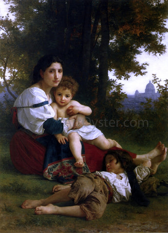 William Adolphe Bouguereau Mother and Children - Hand Painted Oil Painting