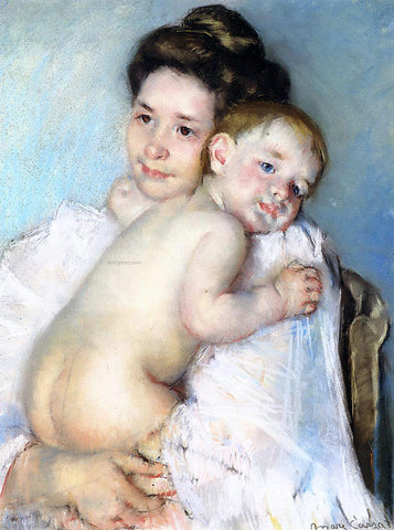 Mary Cassatt Mother Berthe Holding Her Baby - Hand Painted Oil Painting