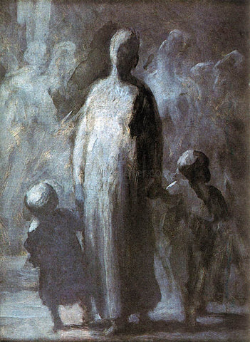Honore Daumier Mother - Hand Painted Oil Painting