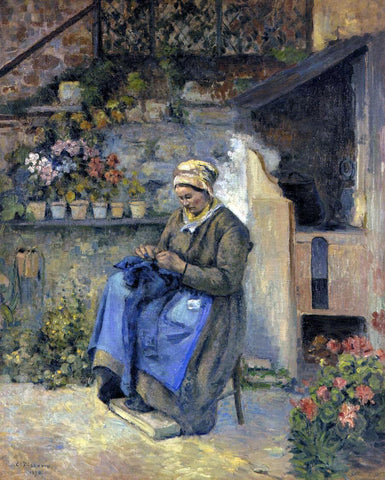 Camille Pissarro Mother Jolly - Hand Painted Oil Painting