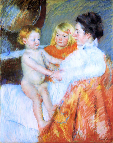 Mary Cassatt Mother, Sara and the Baby - Hand Painted Oil Painting
