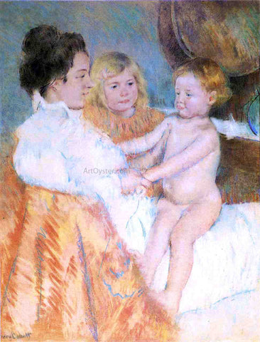 Mary Cassatt Mother, Sara and the Baby (counterproof) - Hand Painted Oil Painting