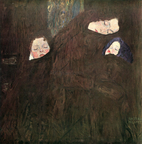 Gustav Klimt Mother and Children - Hand Painted Oil Painting