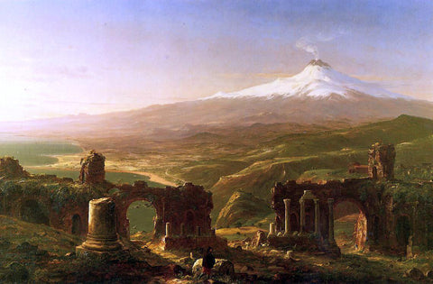 Thomas Cole Mount Etna from Taormina - Hand Painted Oil Painting