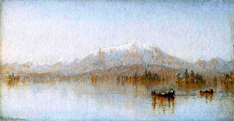 Sanford Robinson Gifford Mount Katahdin from Lake Millinocket - Hand Painted Oil Painting