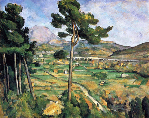 Paul Cezanne Mount Sainte-Victoire as seen from Bellevue - Hand Painted Oil Painting