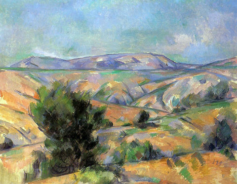 Paul Cezanne Mount Sainte-Victoire Seen from Gardanne - Hand Painted Oil Painting