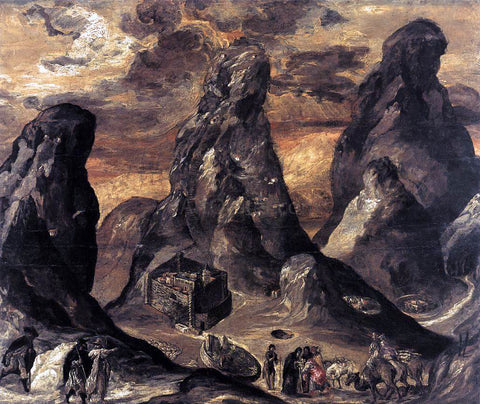 El Greco Mount Sinai - Hand Painted Oil Painting