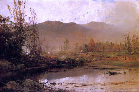 William Louis Sonntag Mountain Lake in Autumn - Hand Painted Oil Painting