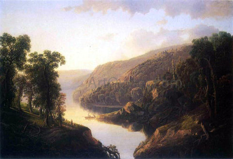 William Louis Sonntag Mountain Lake Inlet - Hand Painted Oil Painting