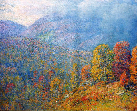 John Joseph Enneking Mountain Landscape - Hand Painted Oil Painting