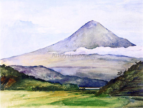 John La Farge Mountain of Fuji-San from Fuji-Kawa - Hand Painted Oil Painting