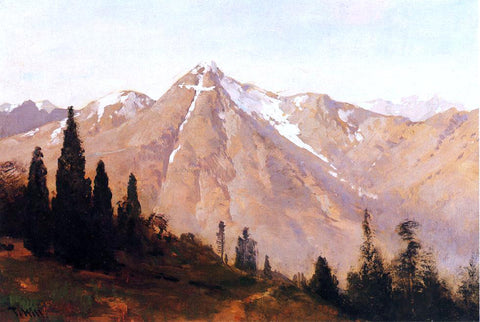 Thomas Hill Mountain of the Holy Cross - Hand Painted Oil Painting